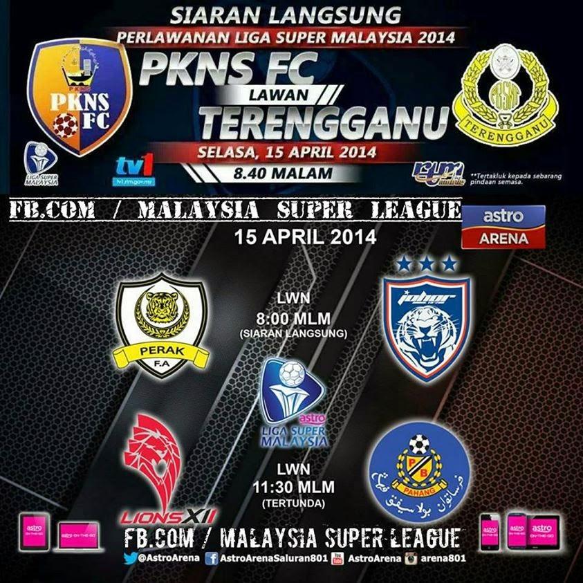 Live Streaming Selangor PKNS FC vs Terengganu 15 April 2014 - Liga Super