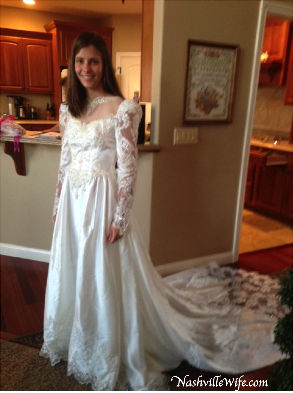 The Seamstress Shortened Sleeves Made Bodice A Little More Snug And Removed Some Of Lace Beads Around Neck