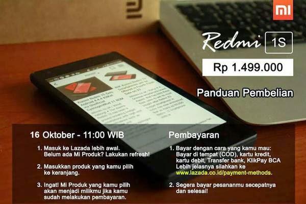 Ingin Berburu Xioami Redmi 1S Register dengan klik gambar diatas gan