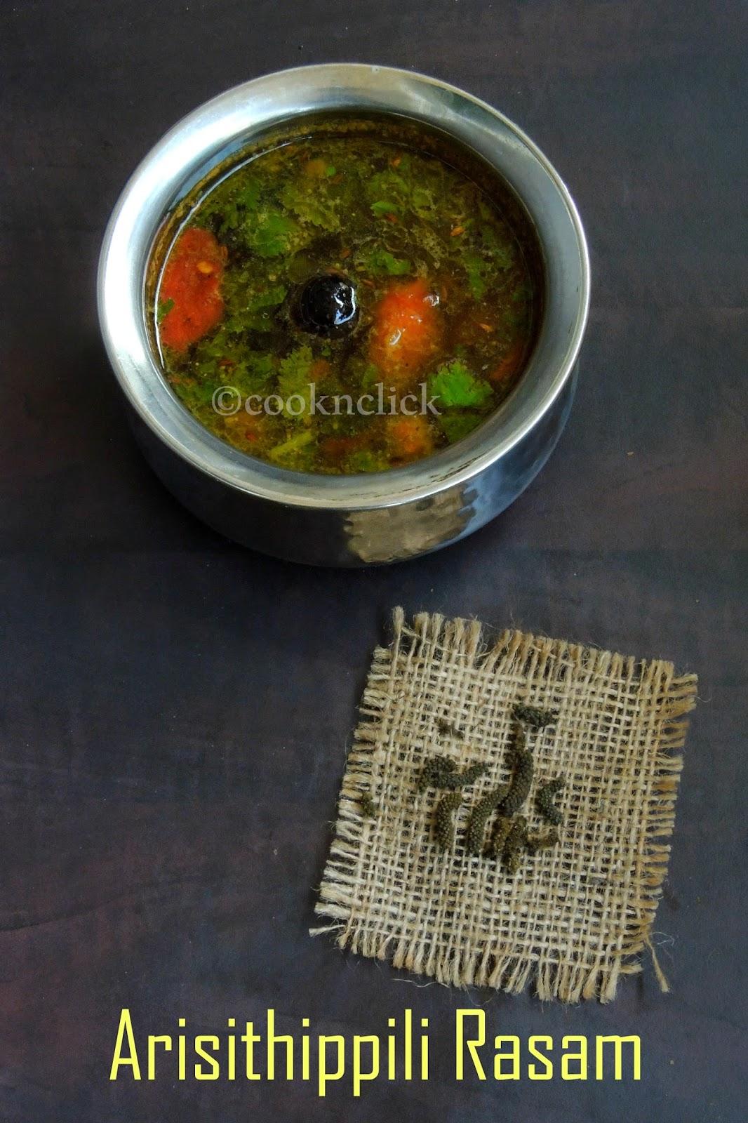 Arisithippili Rasam/Long Pepper Rasam/Thippili Sathumudu