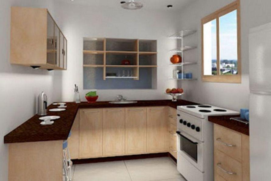 mengatur interior desain dapur bentuk u tampak rapi