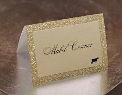 glitter wedding - wesele w złocie winietka