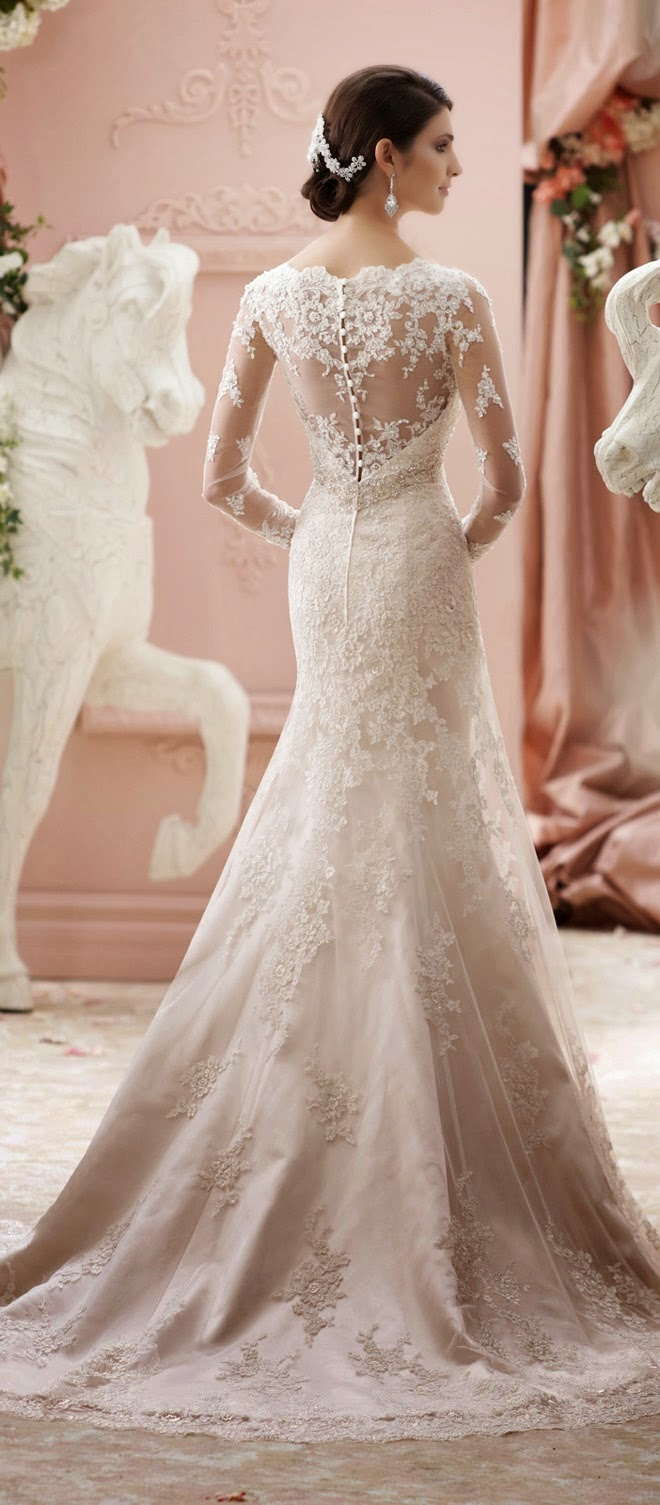 Winter wedding dresses belle the magazine for David tutera beach wedding dresses