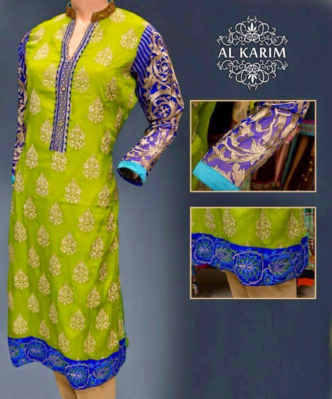 Al Karim Winter Stitched Dress Collection 2015