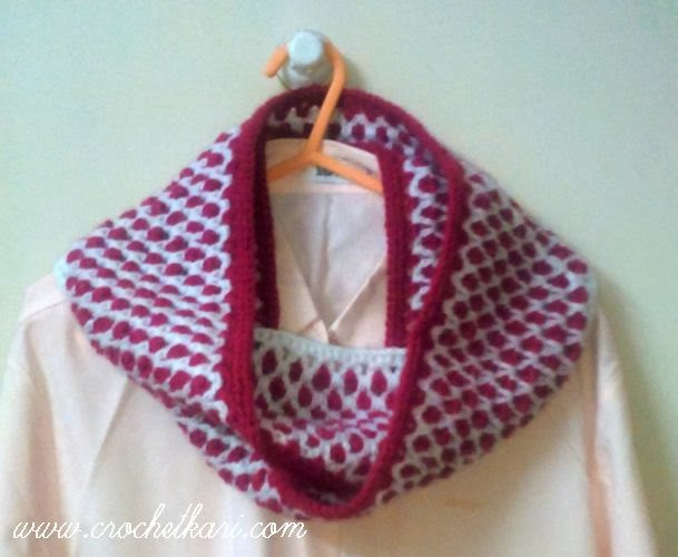 Plum crochet cowl
