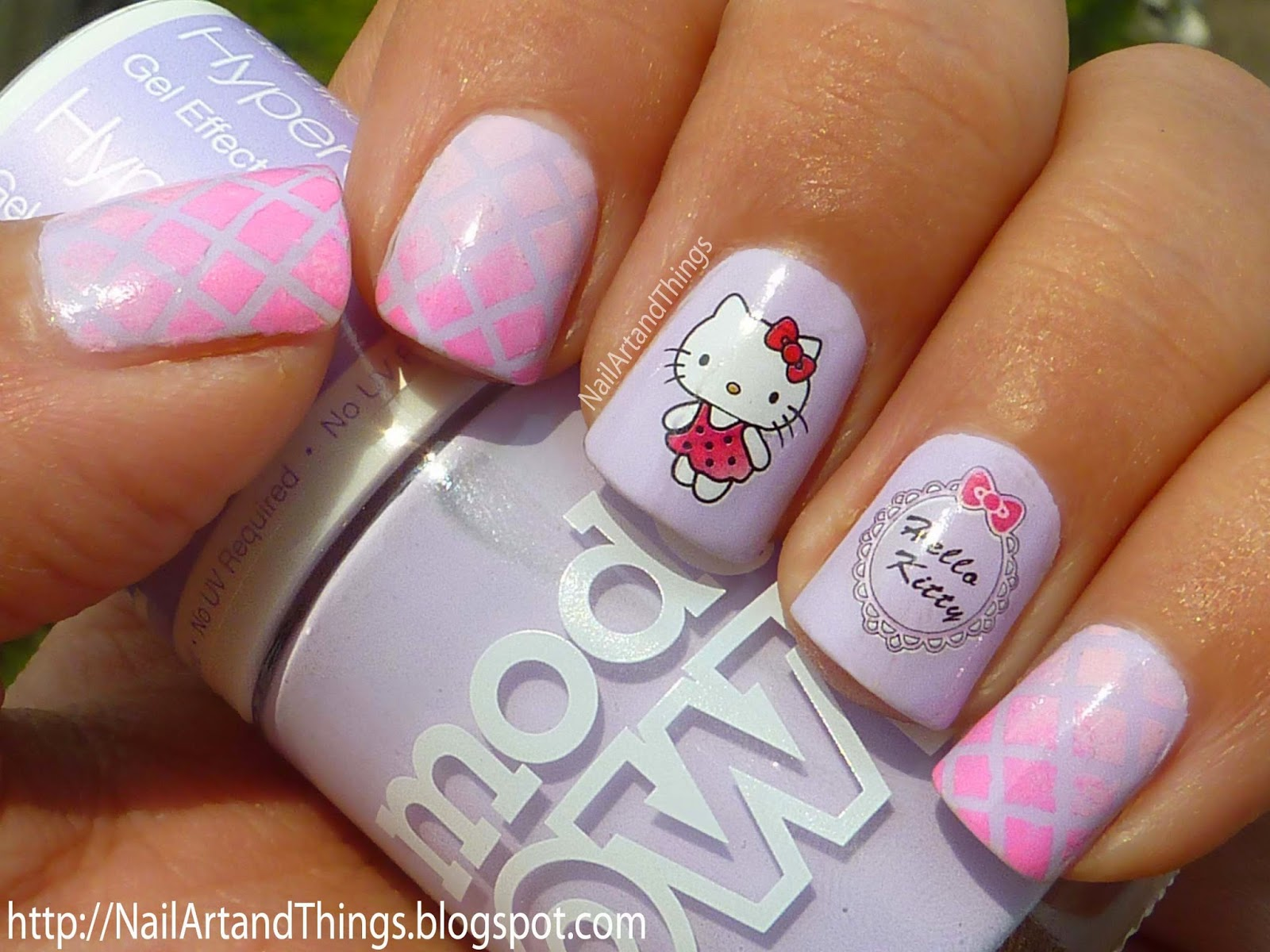 Foto Nail Art Hello Kitty The Best Inspiration For Design And