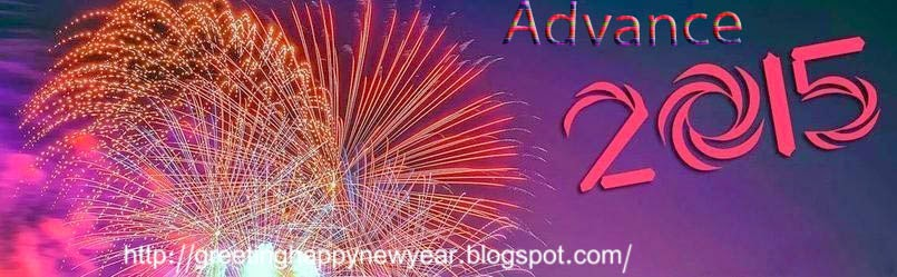 Greeting Happy New Year 2015 Advance Pictures