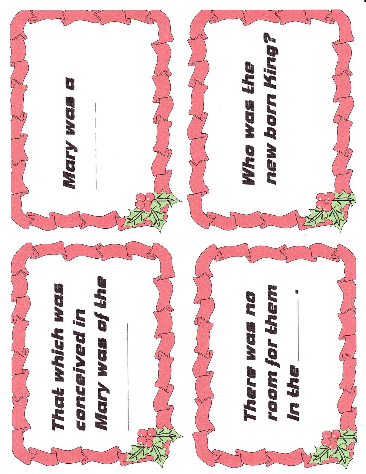 Children\'s Gems In My Treasure Box: Christmas Flashcards