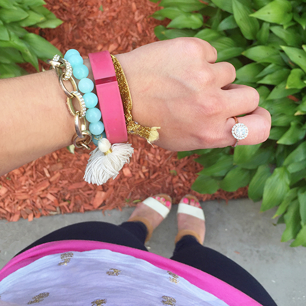 Pink FitBit #ArmParty | Wearable Tech