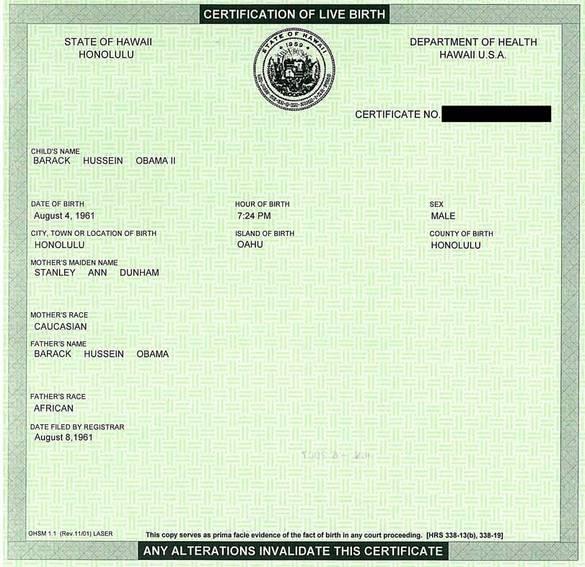 birth certificate obama. irth certificate obama. will