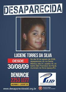 Desaparecida Luciene Torres da Silva