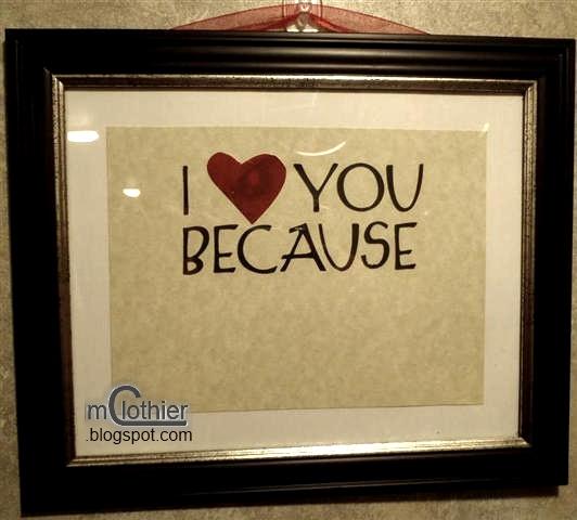 Custom I Love You Because Marker Board