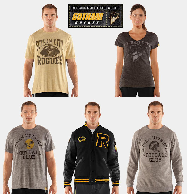 The Dark Knight Rises x Under Armour Gotham Rogues Collection - T-Shirts, Varsity Jacket & Crewneck