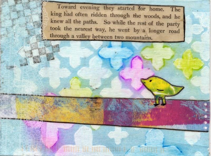 Postcard received in iHanna swap winter 2014