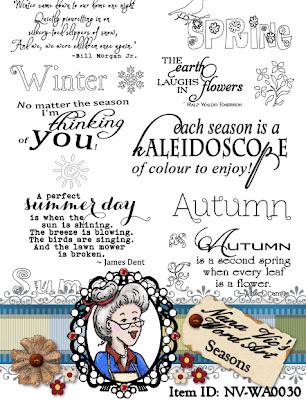 4 seasons word art