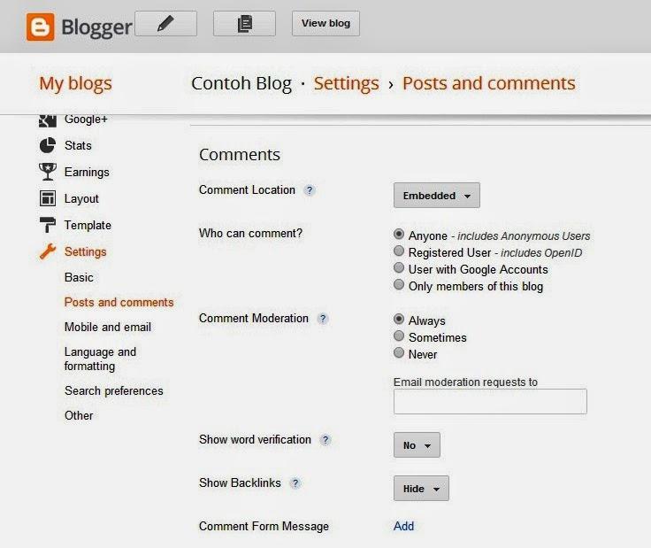 Setting Kolom Komentar Blog yang Baik