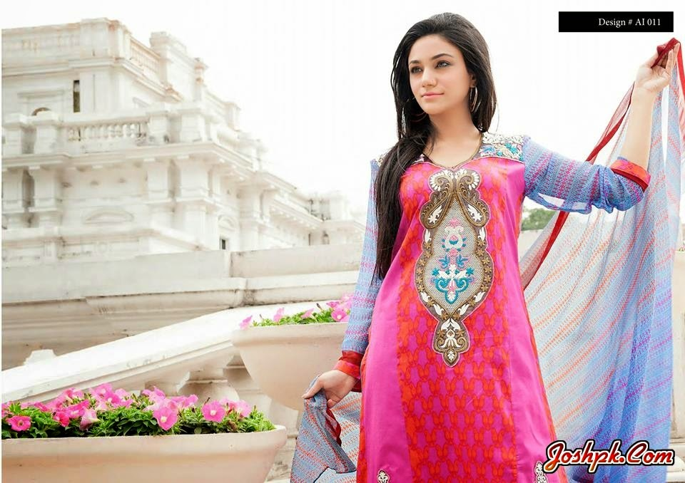 Amna Ismail Colorful Summer Lawn Dresses 2014 For Women