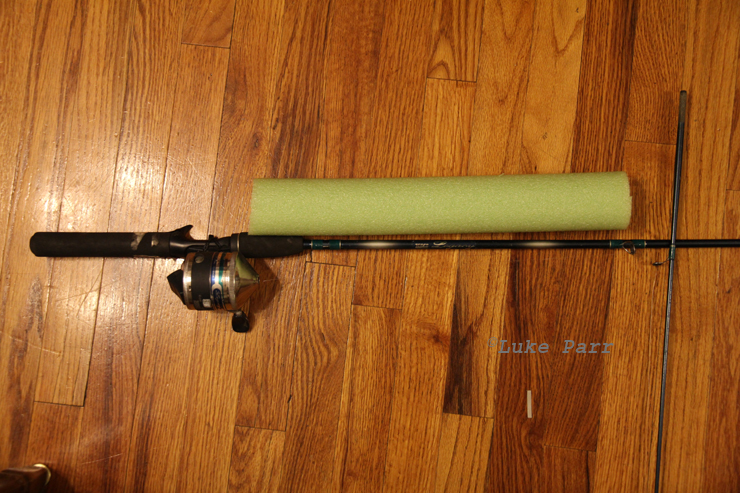 Rocky mountain adventure home made fishing pole float for Fishing pole floats