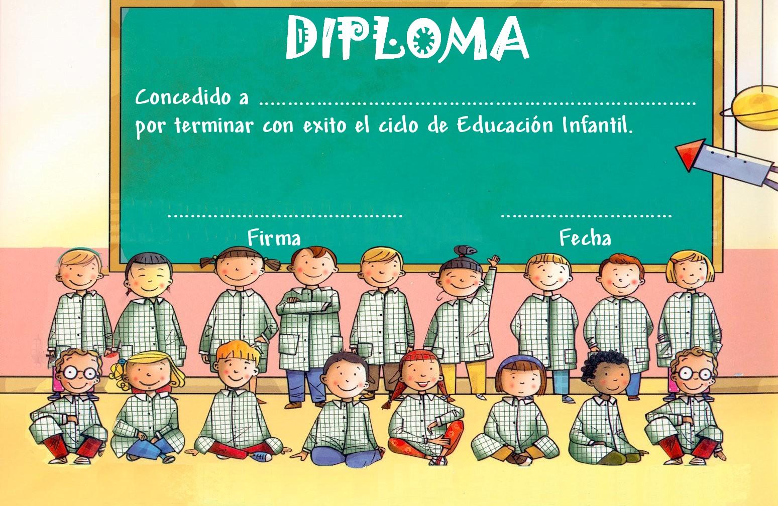 Diploma De Graduacion Para Ninos