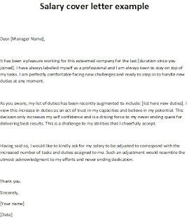 salary cover letter example, salary increase letter, salary cover letter picture