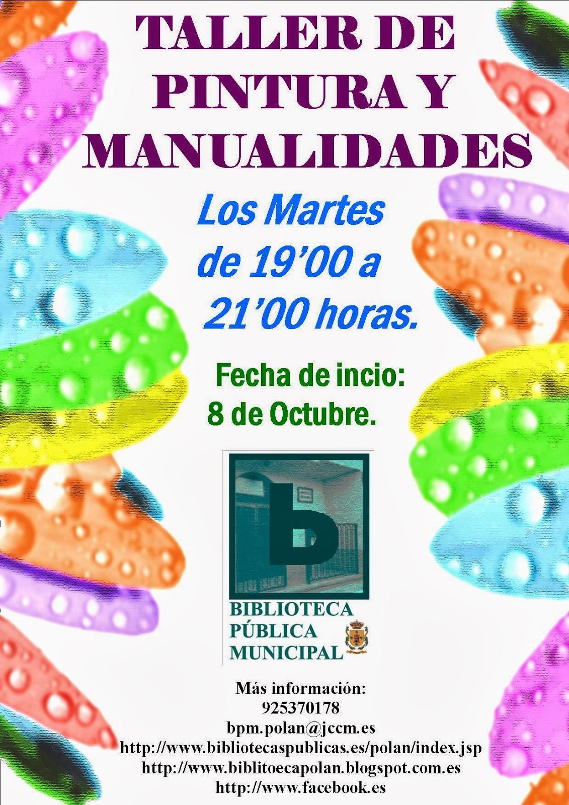 Biblioteca p blica municipal de pol n comienza tambi n - Talleres manualidades para adultos ...