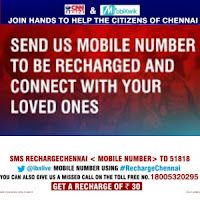 Get Free Rs. 30 Mobile Recharge to Chennai Flood Victims from Mobikwik & CNN IBN : BuyToEarn
