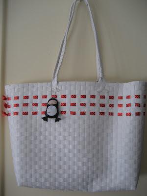 Bolso de playa customizado/ Customized beach bag / Cavas customisé
