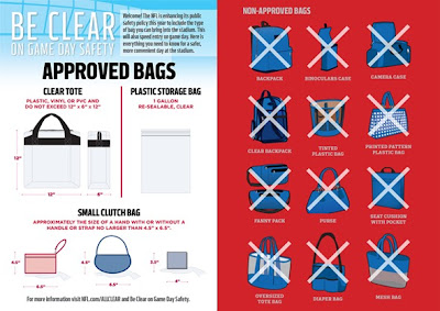 Gameday alternatives for the NFL Stadium Bag Policy