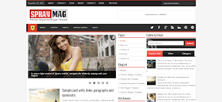Spray Mag Blogger Template is a Responsive PRemium Blgger Template