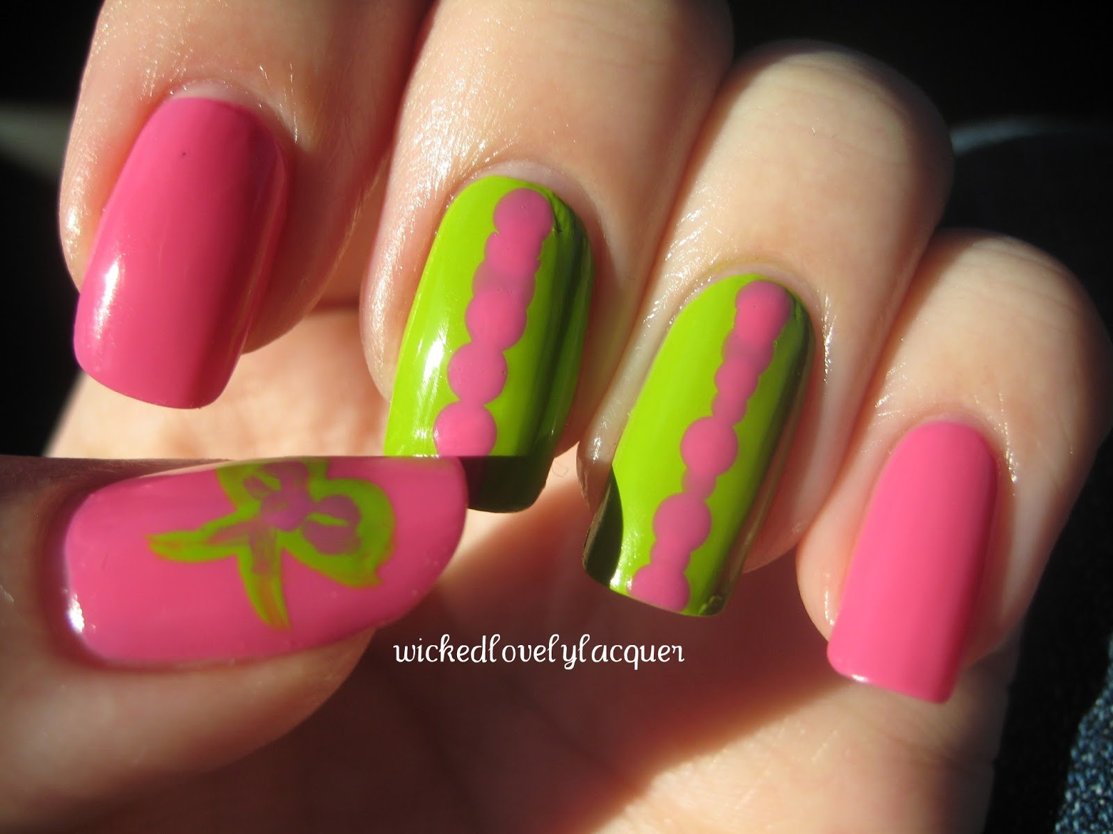 wicked lovely lacquer baby shower nails