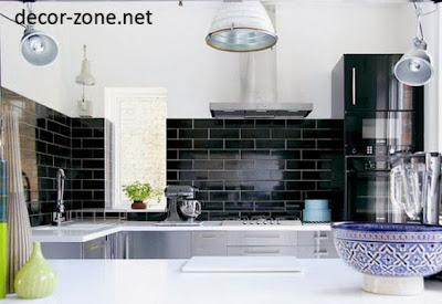 kitchen backsplash tile ideas in a black color