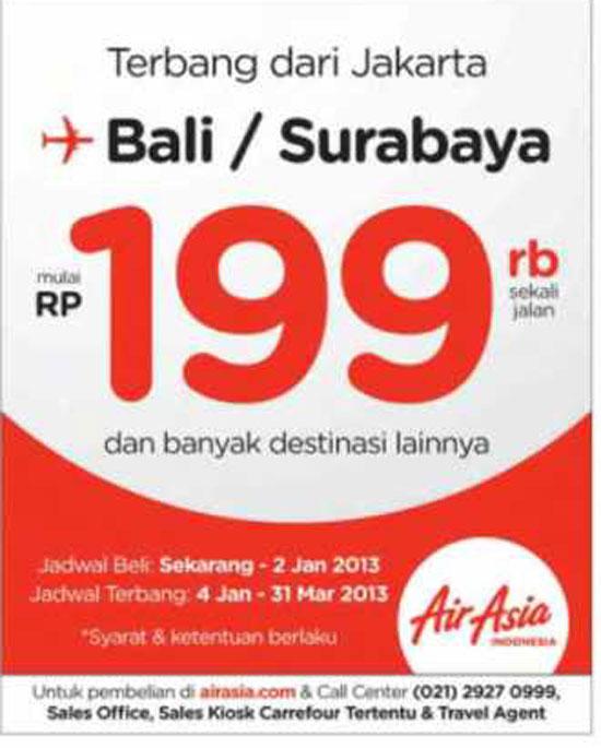 Promosi Tiket Penerbangan Air Asia