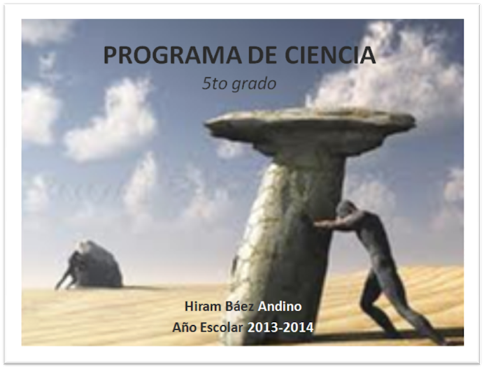 Programa de Ciencia 5to grado