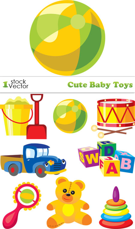 Baby Toys Clip Art : Best vectors clipart baby toys vector images