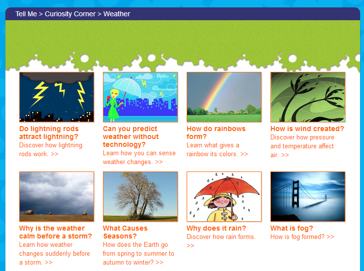 there is a separate section on extreme weather such as tornadoes and hurricanes this site is primarily an information site for reports or projects - Weather Pics For Kids
