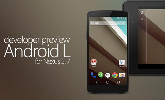 Download Android L Developer Preview 2 (LPV81C) for Nexus 5 & Nexus 7 Manually