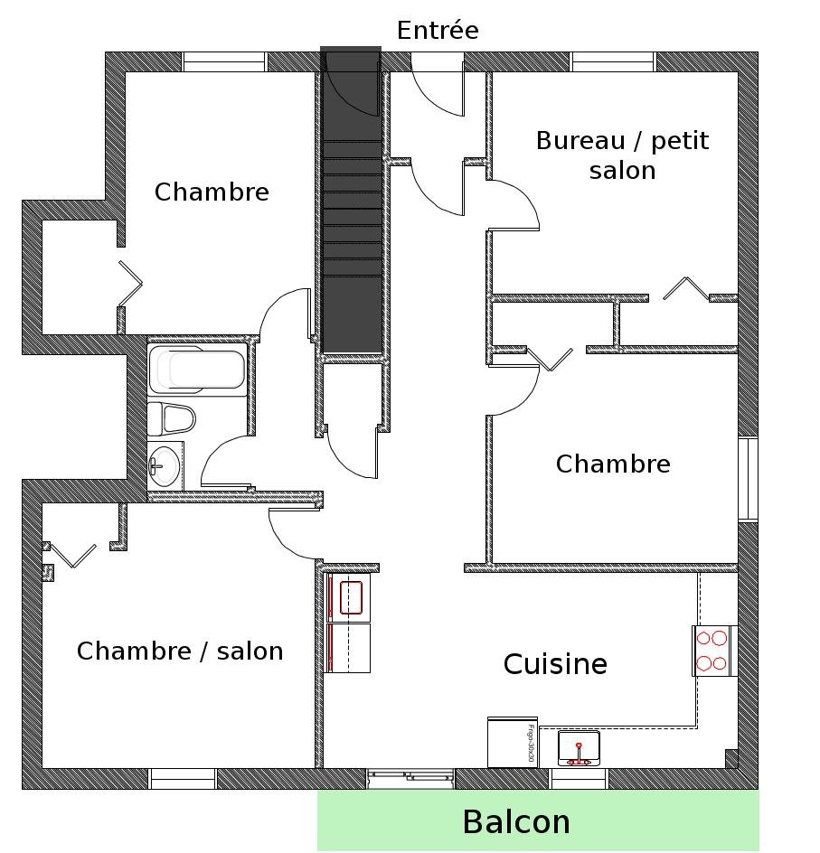 Chambre louer m tro frontenac montr al for Plan appartement 3 chambres