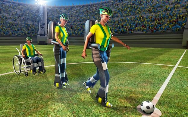 mind-controlled exoskeleton demo for World Cup