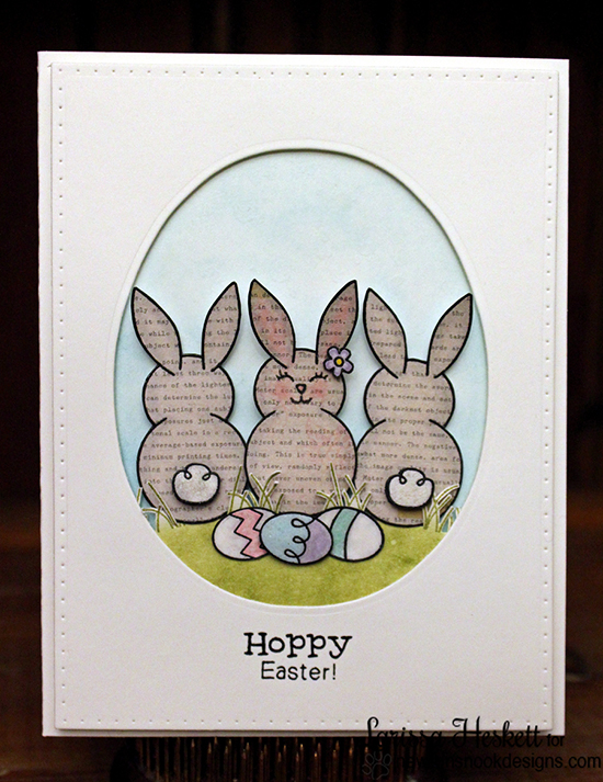 Easter Bunny Card by Larissa Heskett | Bunny Hop Stamp set by Newton's Nook Designs