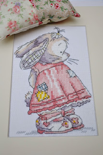 Somebunny to Love cross stitch project finish. DMC free somebunny to love