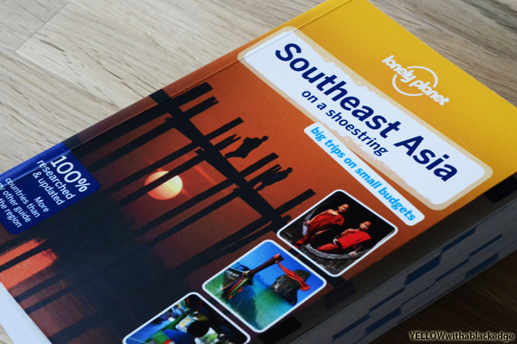 Essential backpacker guide from Lonely Planet when travelling through Southeast Asia