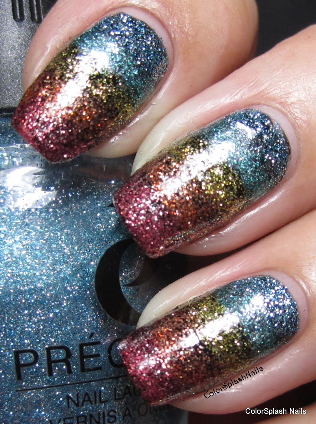 This Is My Precision Nail Lacquer Sprinkles Collection Over Fp Black Expressionism With A Topcoat I M In Love