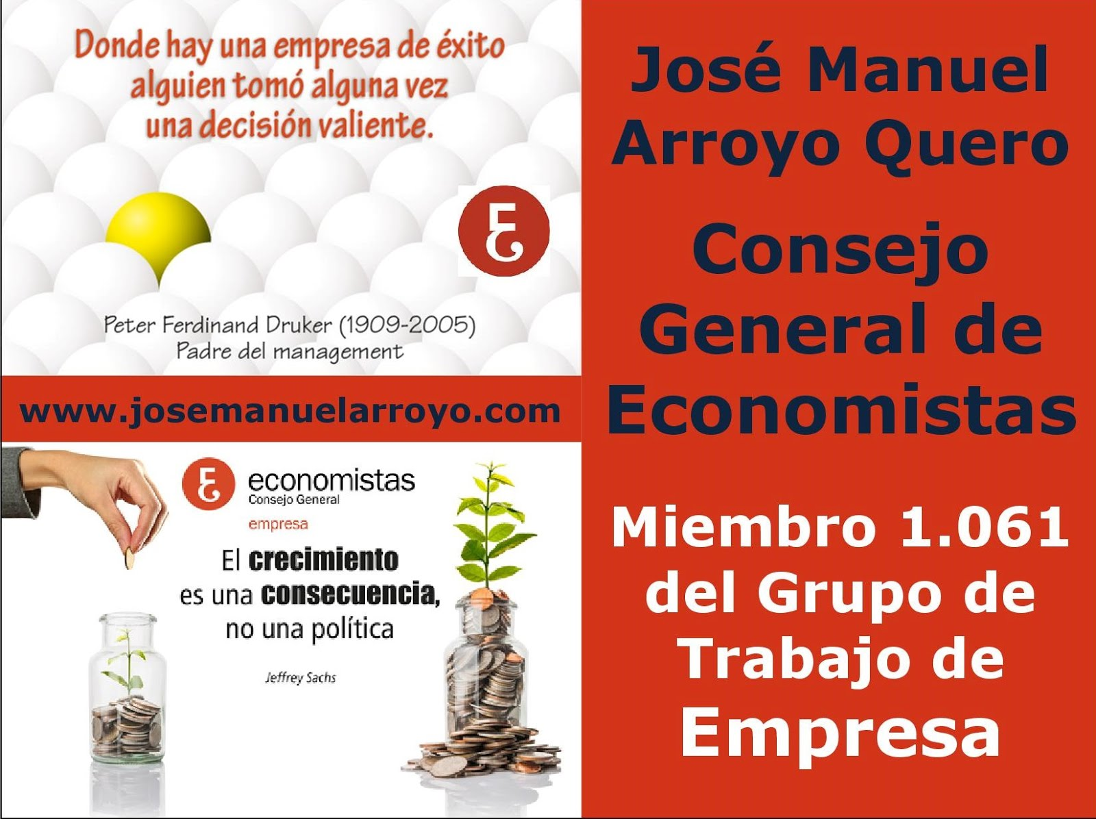 Miembro 1.061 del Grupo de Trabajo de Empresa del Consejo General de Economistas