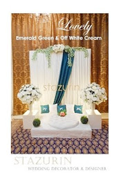 Pelamin Mini Pertunangan/Engagement Pelamin Tema Warna Lovely Pastel Emerald Green