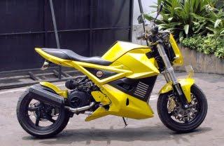 gambar foto modifikasi Yamaha Mio Look Sportbike