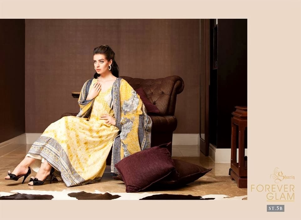 Sizzling Lawn Prints In Yellow Color