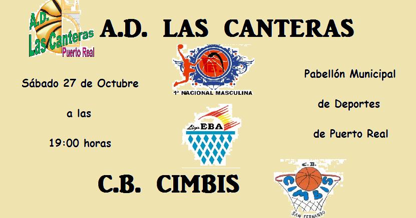 Vive el basket con eduardo burgos las canteras se pone a prueba frente al cimbis - Las canteras puerto real ...