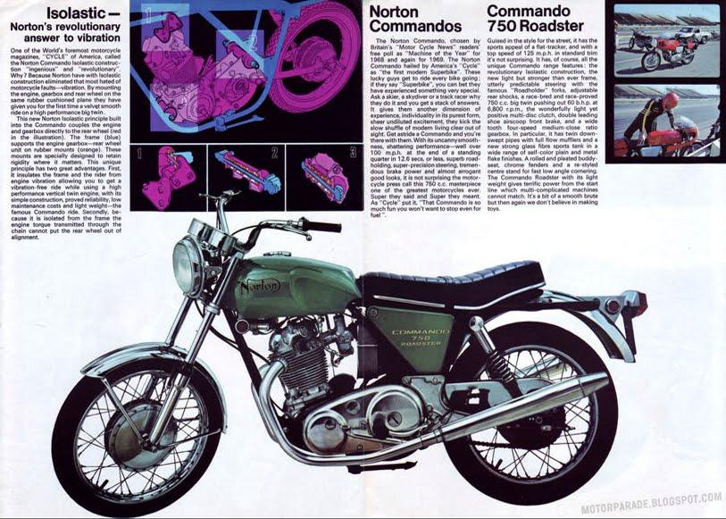 Racing Caf U00e8  Vintage Brochures  Norton Commando 750 1970  Usa