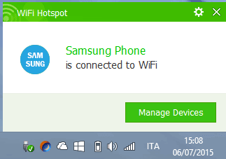Baidu WiFi Hotspot notifica dispositivo connesso