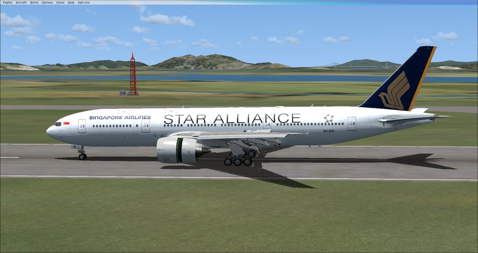 how to use reverse thrust in fsx